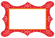 blom- ram för dekorativa element Royaltyfria Bilder