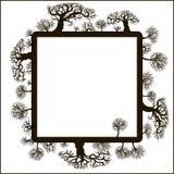 blom- ram för dekorativa element Arkivbilder