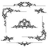 blom- ram för element vektor illustrationer
