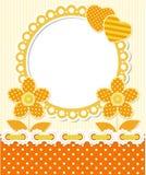 Blom- ram för Retro stilscrapbook Royaltyfri Bild