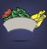 Blom- ram för tecknad film Arkivbilder