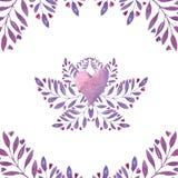 Blom- ram för vattenfärg stock illustrationer