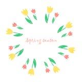Blom- ram för vattenfärg Royaltyfria Bilder