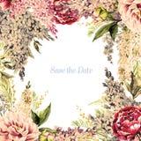 Blom- ram för vattenfärg Royaltyfri Foto