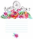 Blom- ram för vattenfärg för att gifta sig inbjudan vektor illustrationer