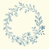 Blom- ram för vektor med dekorativa beståndsdelar för design arkivbilder