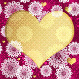 Blom- ram för valentin Fotografering för Bildbyråer