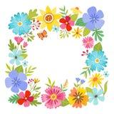 Blom- ramdesign för fyrkantigt format Arkivbilder