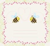 blom- ramförälskelse för bin Arkivbild