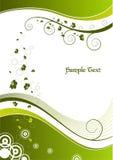 blom- ramgreen royaltyfri illustrationer