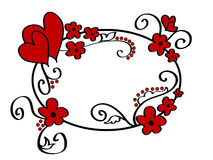 blom- ramhjärtor vektor illustrationer