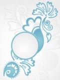 blom- ramillustrationtappning Royaltyfri Bild