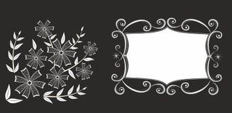 blom- rammodell för abstrackt Fotografering för Bildbyråer