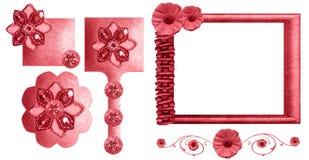 blom- rampink för samling Royaltyfri Fotografi