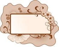 blom- ramtext Royaltyfri Illustrationer