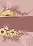 blom- ramtext Vektor Illustrationer