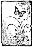 blom- ramvektor stock illustrationer