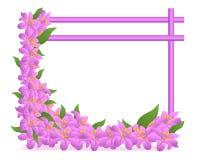 blom- ramvektor för cdr stock illustrationer