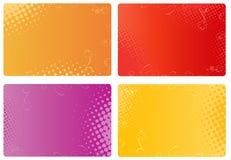 blom- raster för affärskortdesigner Arkivfoton