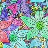 blom- regnbåge royaltyfri bild