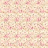 Blom- repetitionbakgrund för rosa och gula rosor Fotografering för Bildbyråer