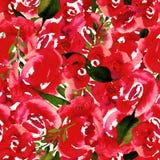 Blom- repetitionmodell för vattenfärg Kan användas som ett tryck för tyg, bakgrund för att gifta sig inbjudan stock illustrationer