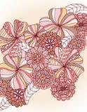 blom- retro Arkivbild
