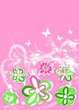 blom- retro för bakgrund Arkivbild