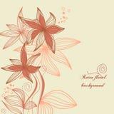 blom- retro för bakgrund Royaltyfri Foto