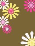 blom- retro för bakgrund Royaltyfri Bild