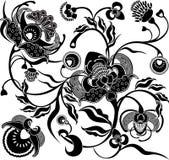 blom- retro för design Royaltyfri Bild
