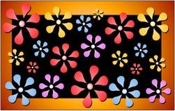 blom- retro modelltryck Royaltyfri Foto