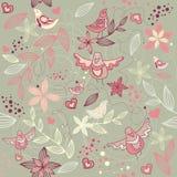 blom- romantisk seamless wallpaper Royaltyfri Fotografi