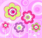 Blom- rosa färgprydnad Arkivfoto