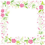 Blom- rosa hälsningkort Royaltyfri Foto