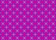 Blom- rosa modell för gåvainpackningspapper vektor illustrationer
