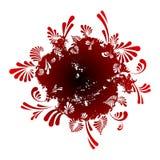 blom- round för abstrakt bakgrund stock illustrationer
