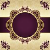 Blom- rund ram Fotografering för Bildbyråer