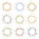Blom- rundaramar vektor illustrationer