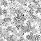 Blom- sömlös abstrakt modell och sommarbakgrund Royaltyfri Foto