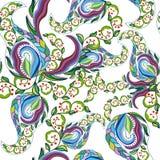 Blom- sömlös bakgrund Arkivfoto