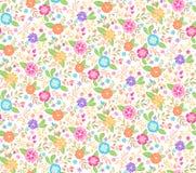 Blom- sömlös bakgrund för gullig vår också vektor för coreldrawillustration Arkivfoto