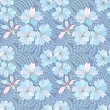 Blom- sömlös bakgrund. försiktig blommamodell. Royaltyfri Fotografi