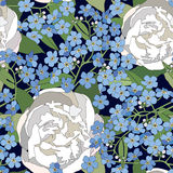 Blom- sömlös bakgrund. försiktig blommamodell. Fotografering för Bildbyråer