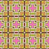 Blom- sömlös frambragd textur för tapetprydnad Arkivfoto