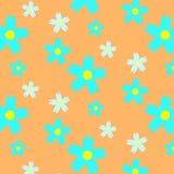 Blom- sömlös modell för Absract sommar royaltyfri illustrationer