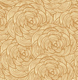 Blom- sömlös modell för gobeläng Dekorativt snöra åt bakgrund med rosor Royaltyfri Bild