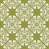 Blom- sömlös modell för olivgrön gräsplan