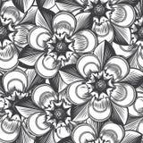 Blom- sömlös modell för tappning Royaltyfri Foto