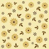 Blom- sömlös modell i beiga- och brunttoner också vektor för coreldrawillustration Fotografering för Bildbyråer